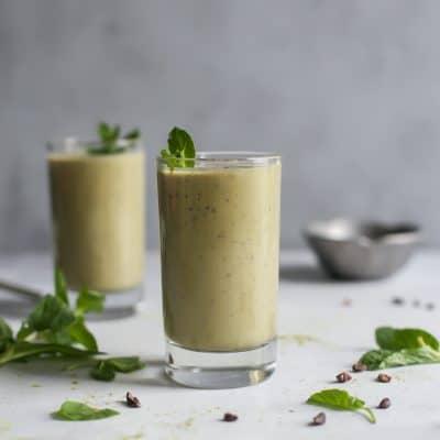 Vanilla Mint Matcha Protein Shake