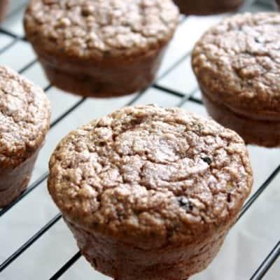 Chocolate Chip Zucchini Protein Muffins
