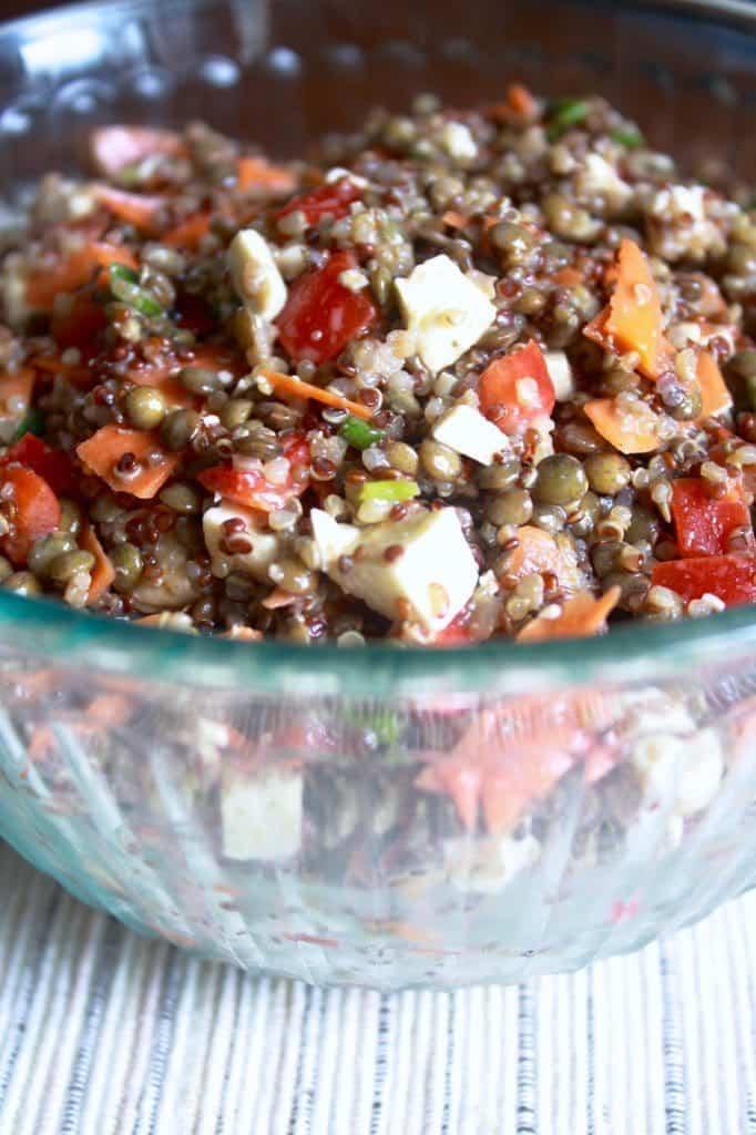 Maple Quinoa Lentil Salad [Fit Mitten Kitchen]