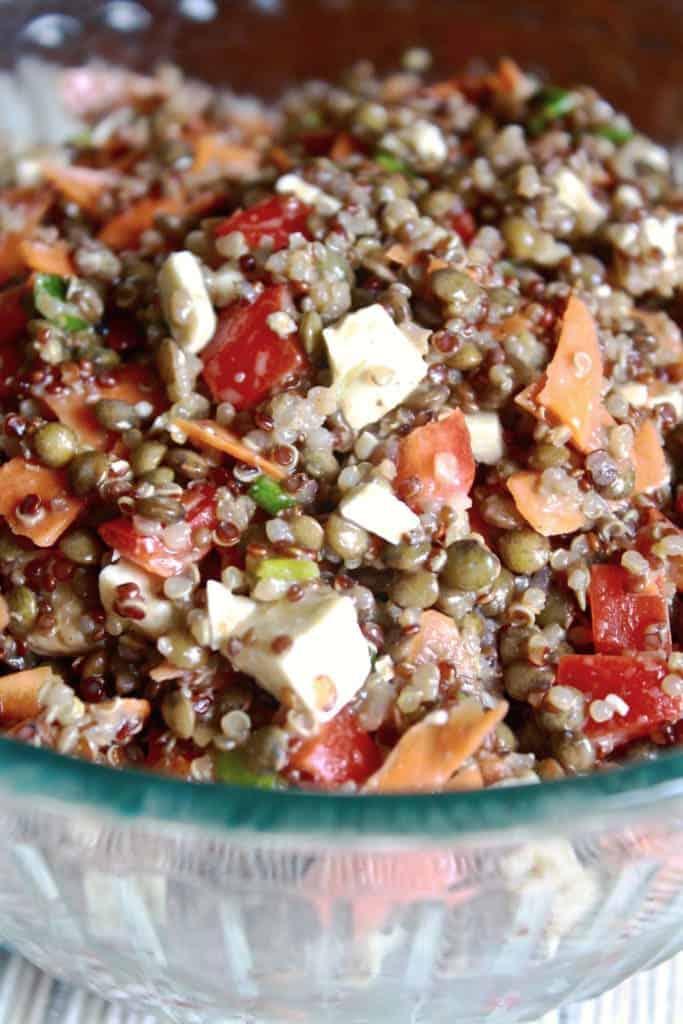 Maple Balsamic Quinoa Lentil Salad