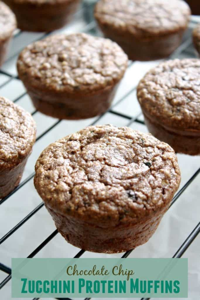 Chocolate Chip Zucchini Protein Muffins [Fit Mitten Kitchen]