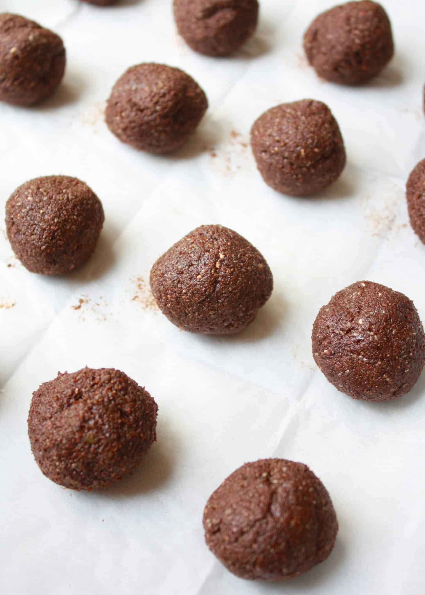 Nut Free Chocolate Energy Balls Fit Mitten Kitchen