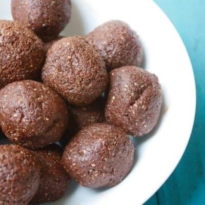 Nut-Free Chocolate Energy Balls [Vegan, Gluten-Free, Dairy-Free]