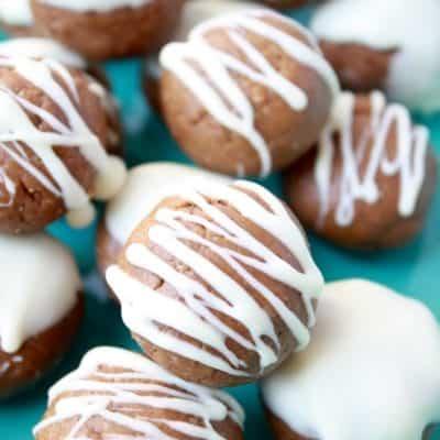 White Chocolate Peanut Butter Protein Balls [Gluten-Free]