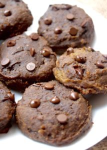 The BEST VEGAN PUMPKIN DESSERTS! Choclate Pumpkin Chickpea Cookies