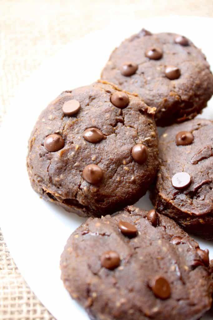 Pumpkin Chocolate Chip Chickpea Cookies [Fit Mitten Kitchen]