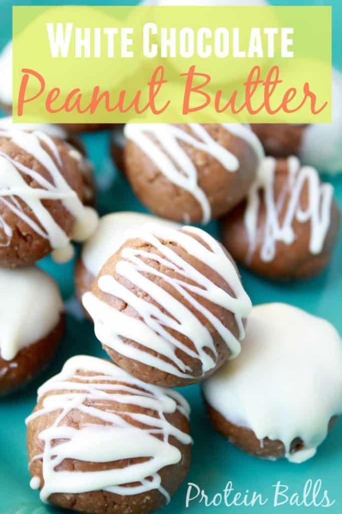 White Chocolate Peanut Butter Protein Balls [Fit Mitten Kitchen]