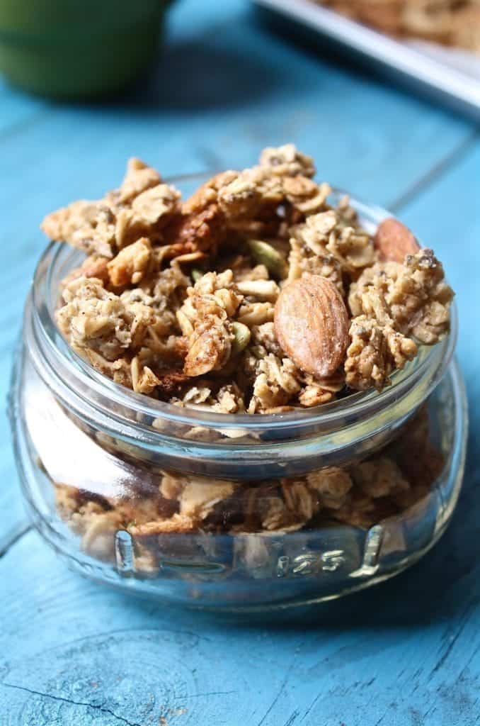 Pumpkin Spice Granola [Fit Mitten Kitchen]