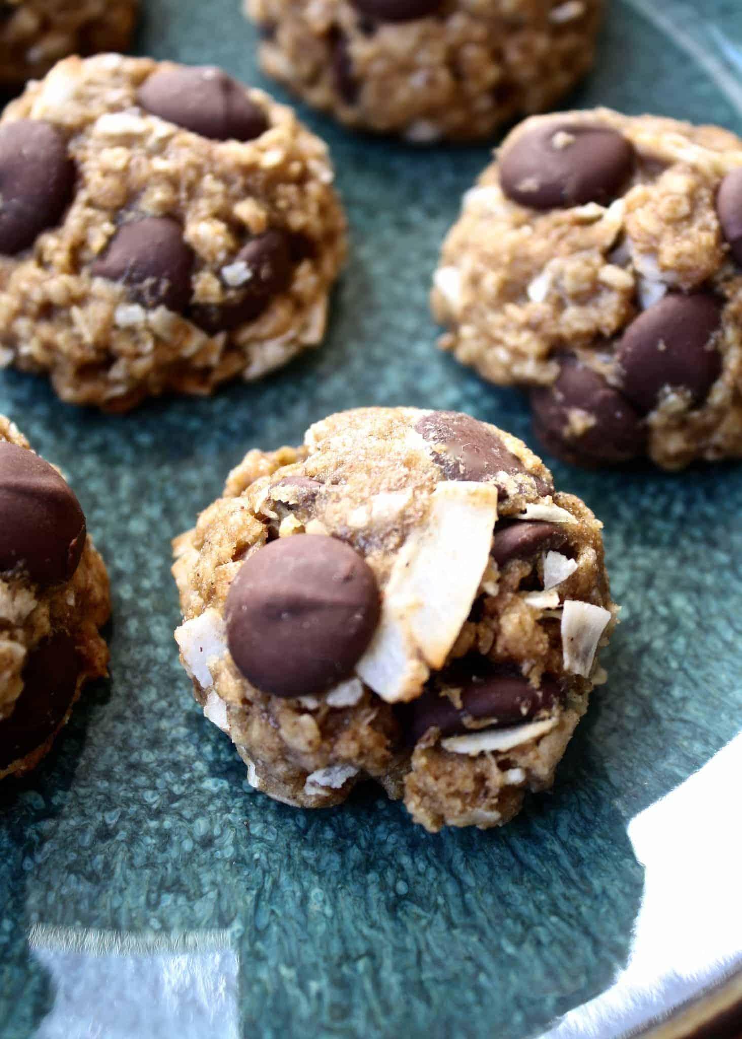 Banana Coconut Dark Chocolate Chip Cookies • Fit Mitten Kitchen