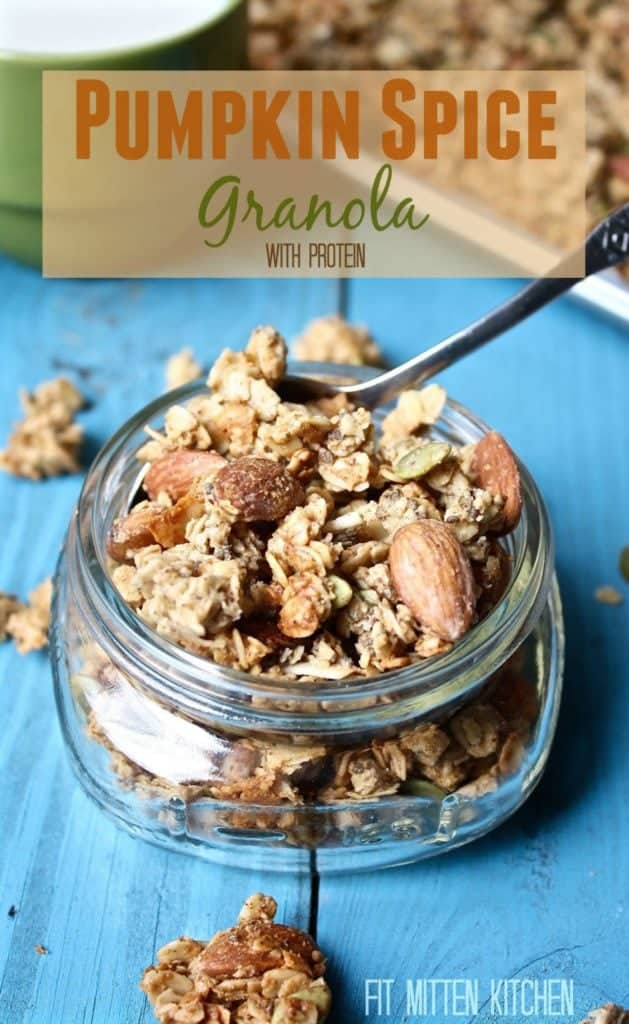 Pumpkin Spice Granola with Protein [Fit Mitten Kitchen]