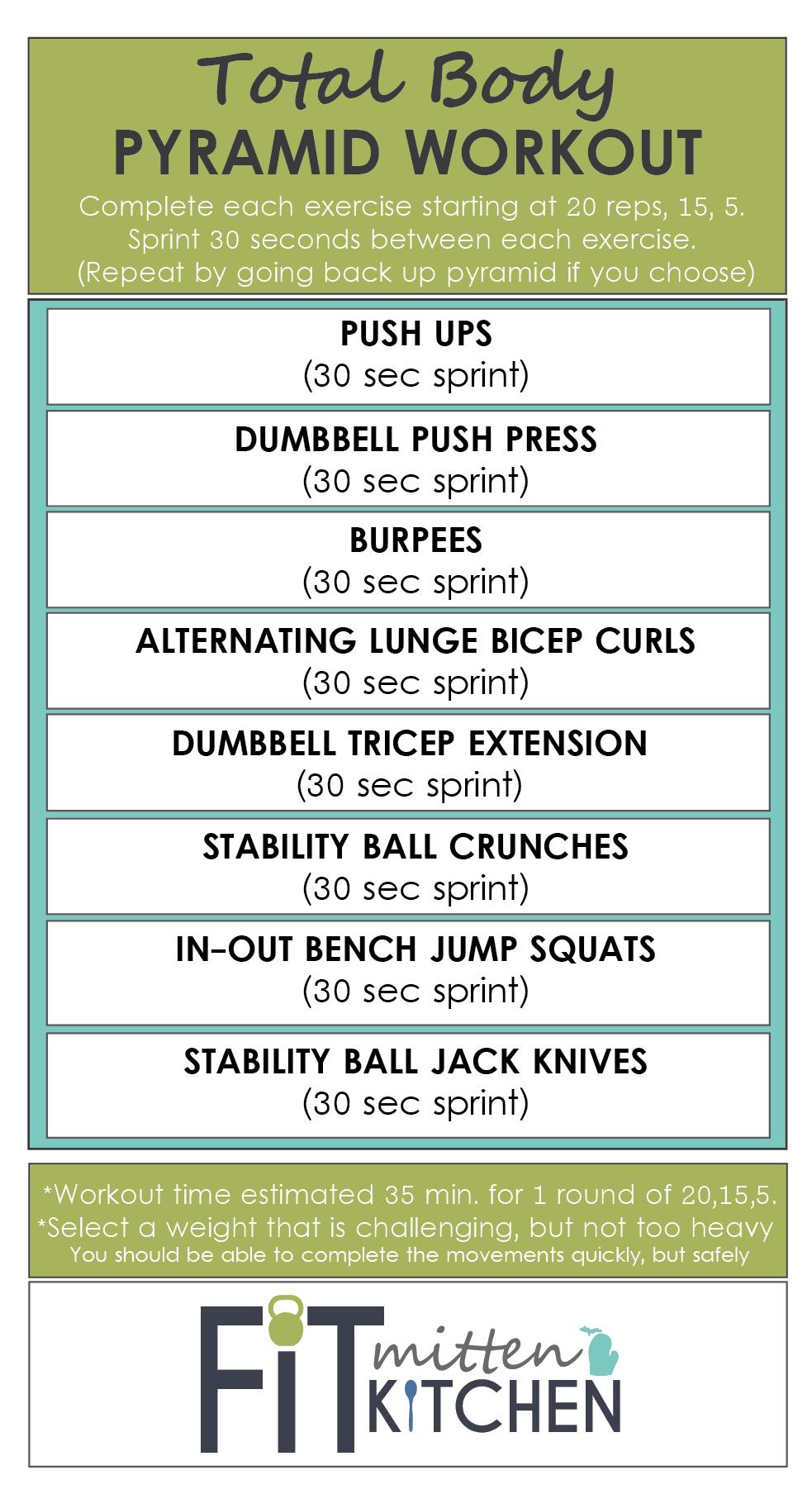 Weight Training Workout 3 Pyramid Fit Mitten Kitchen