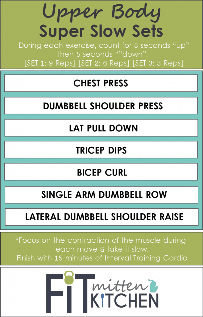 Upper Body Super Slow Sets [Fit Mitten Kitchen]