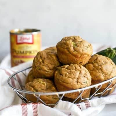 Chai Zucchini Pumpkin Muffins [with protein]