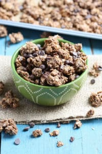 Triple Chocolate Coconut Granola (with added protein for the perfect filling snack)