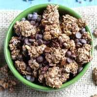Triple Chocolate Coconut Granola Clusters [Fit Mitten Kitchen]