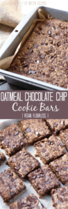 Vegan Oatmeal Chocolate Chip Cookie Bars [Fit Mitten Kitchen]