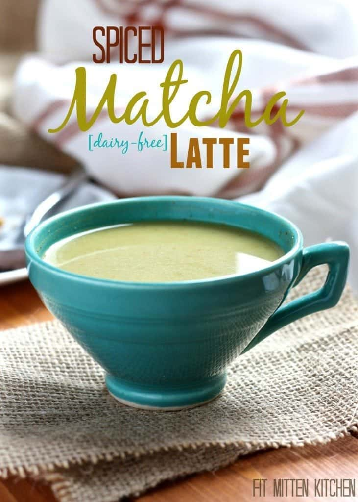 Spiced Matcha Latte [Fit Mitten Kitchen] #diaryfree #vegan