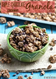 Triple Chocolate Granola Clusters [Fit Mitten Kitchen]