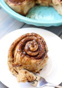 Healthier Whole Wheat Cinnamon Rolls [Fit Mitten Kitchen]