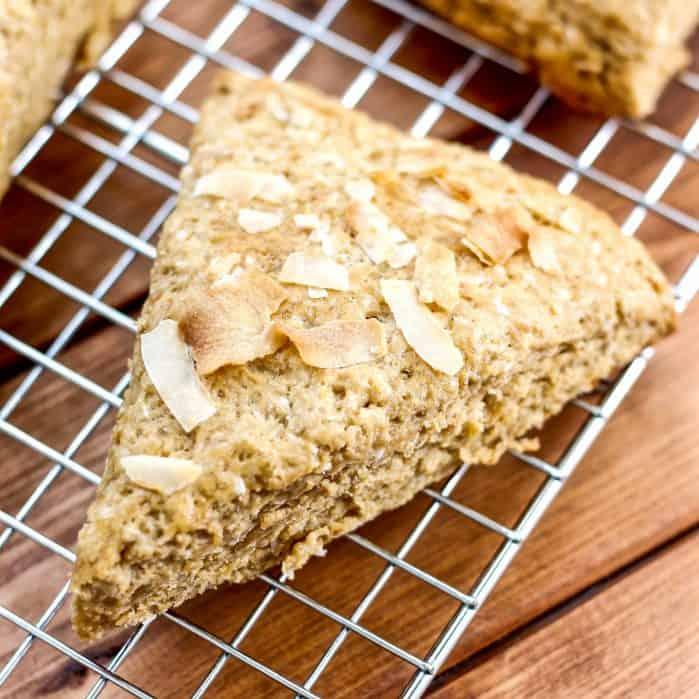 Whole Wheat Coconut Scones