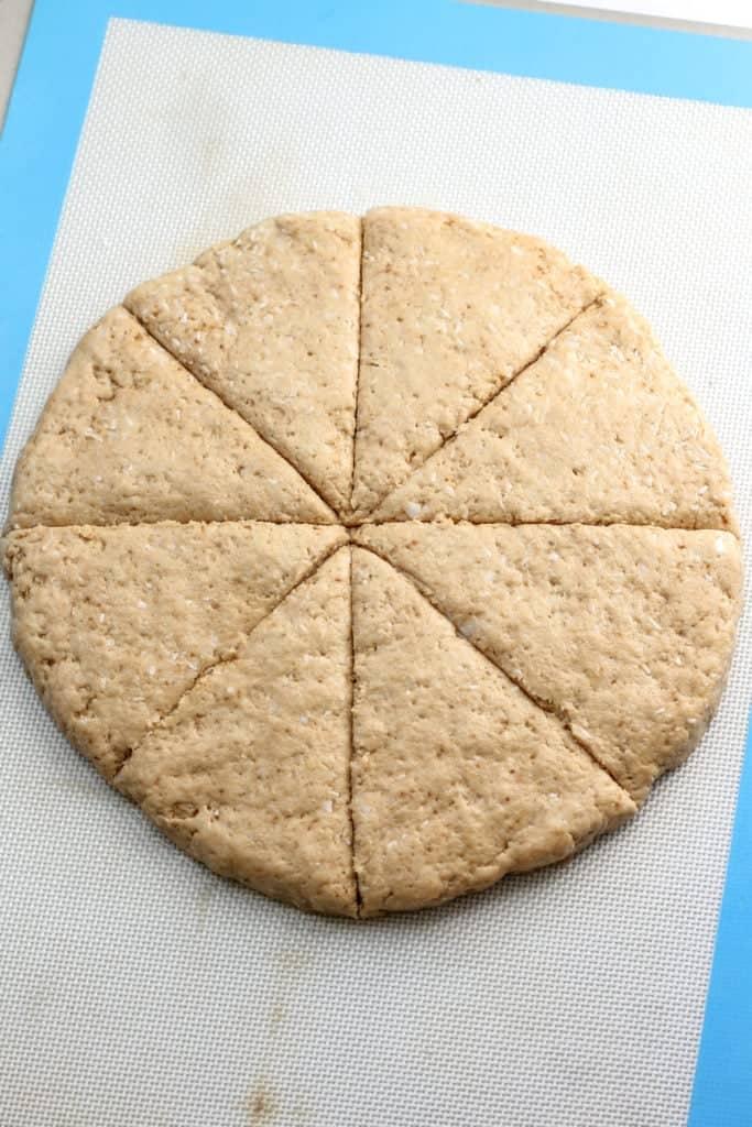 cut dough into 8 slices