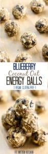 Blueberry Coconut Oat Energy Balls [Fit Mitten Kitchen]