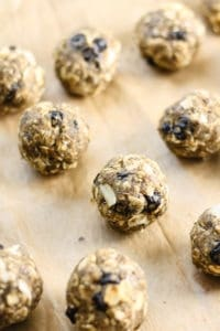 Blueberry Coconut Oat Energy Balls [Fit Mitten Kitchen] with plant protein!