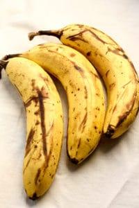 three over ripe bananas