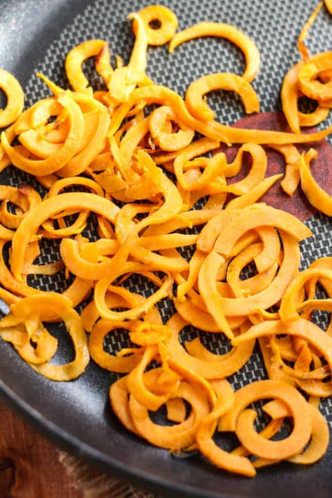 spiraled Sweet Potato close up