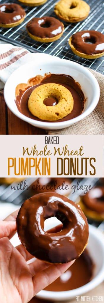 Whole Wheat Pumpkin Donuts