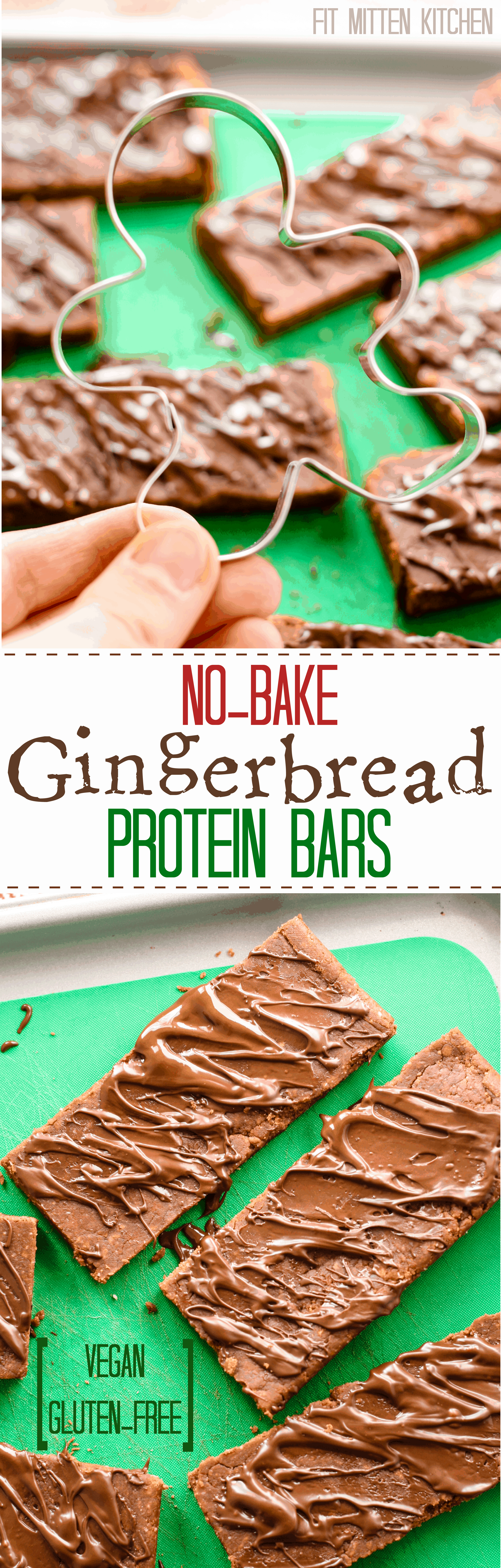 No-Bake Gingerbread Protein Bars