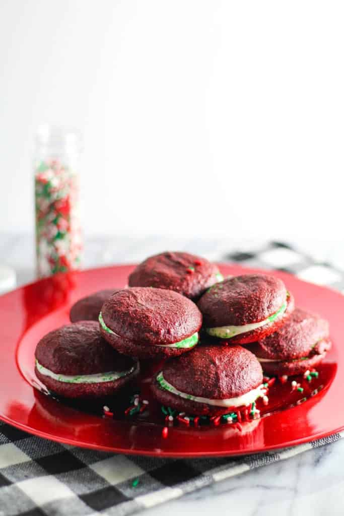 Red Velvet Whoopie Pies [The Blissful Balance]