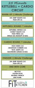 25 Minute Kettlebell + Cardio Circuit