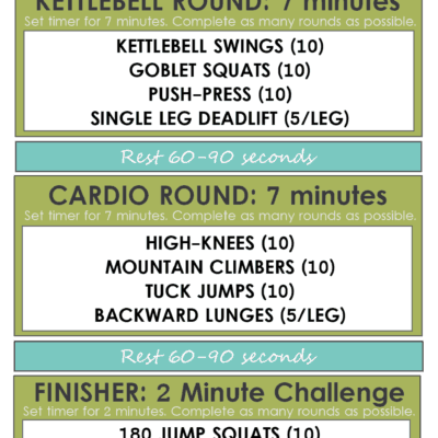 25 Minute Kettlebell Cardio Circuit