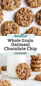 oatmeal chocolate chip cookies long pin
