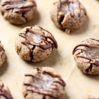 Grain-Free Salted Caramel Thumbprint Cookies [Fit Mitten Kitchen]