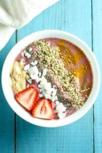 Cherry Berry Antioxidant Smoothie Bowl [Fit Mitten Kitchen]