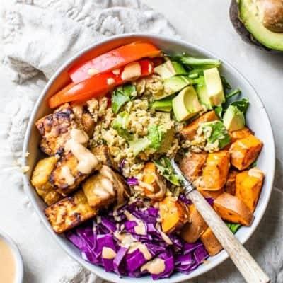Thai Tempeh Buddha Bowl [vegan, high-protein]