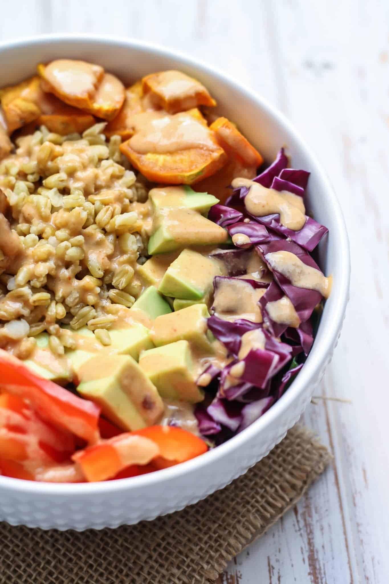 Thai Tempeh Buddha Bowl [vegan, high-protein] • Fit Mitten Kitchen