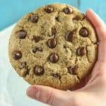 Giant Vegan Chocolate Chip Cookie [gluten-free]