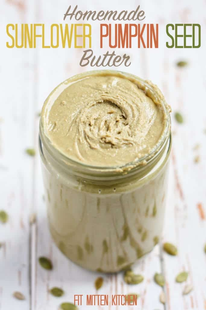 Sunflower Pumpkin Seed Butter in jar