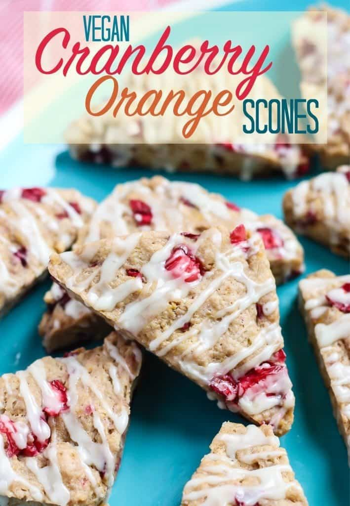 Vegan Cranberry Orange Scones