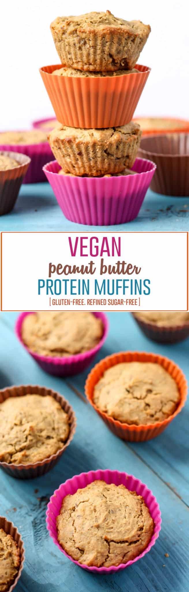 Vegan Peanut Butter Protein Muffins [gluten-free] • Fit ...