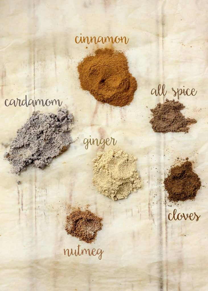 Spices needed for nut butter