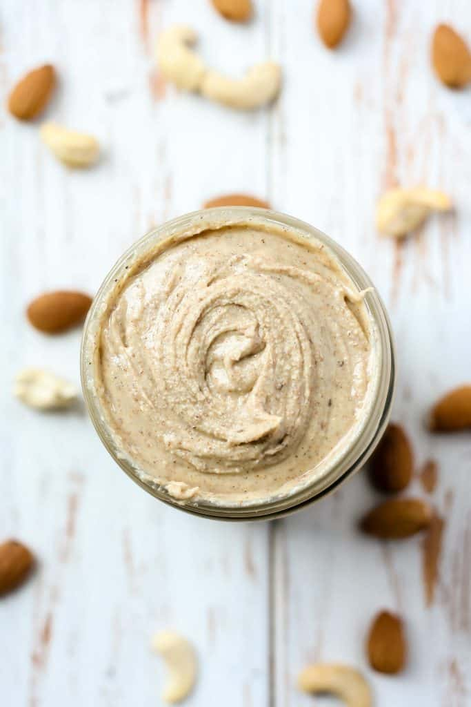 Chai Spiced Almond Cashew Butter close up.