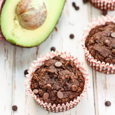 Triple Chocolate Avocado Muffins [ gluten-free, dairy-free ]