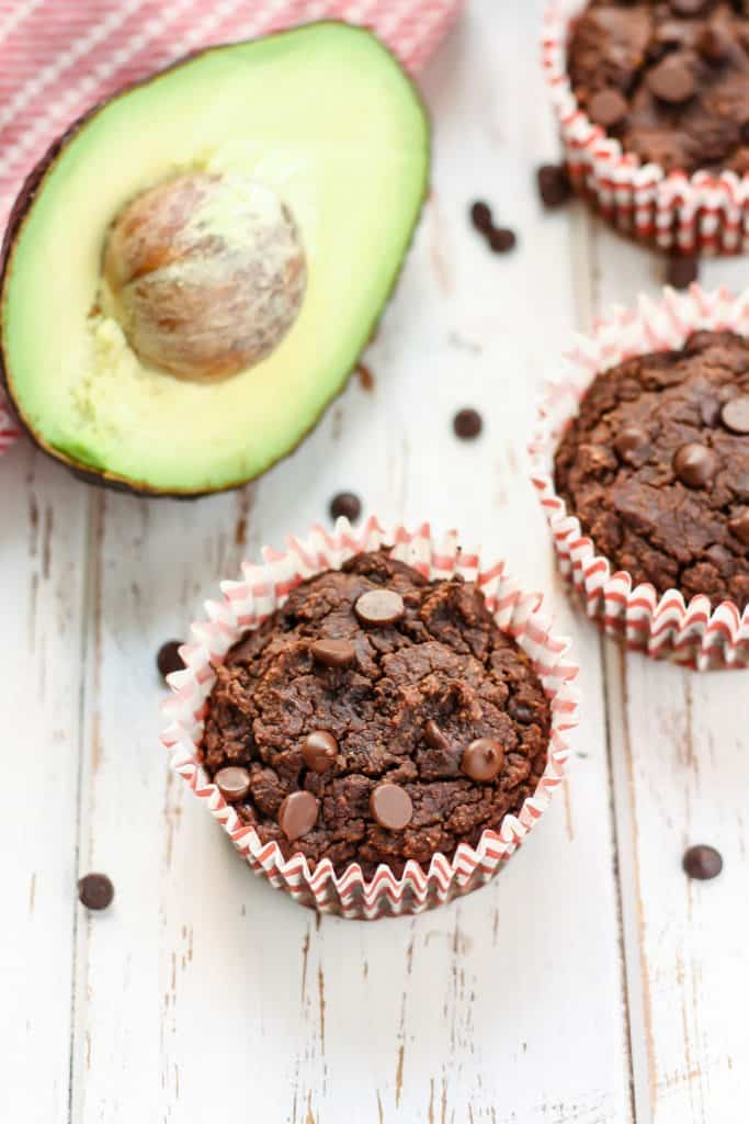 Chocolate Avocado Muffins-6