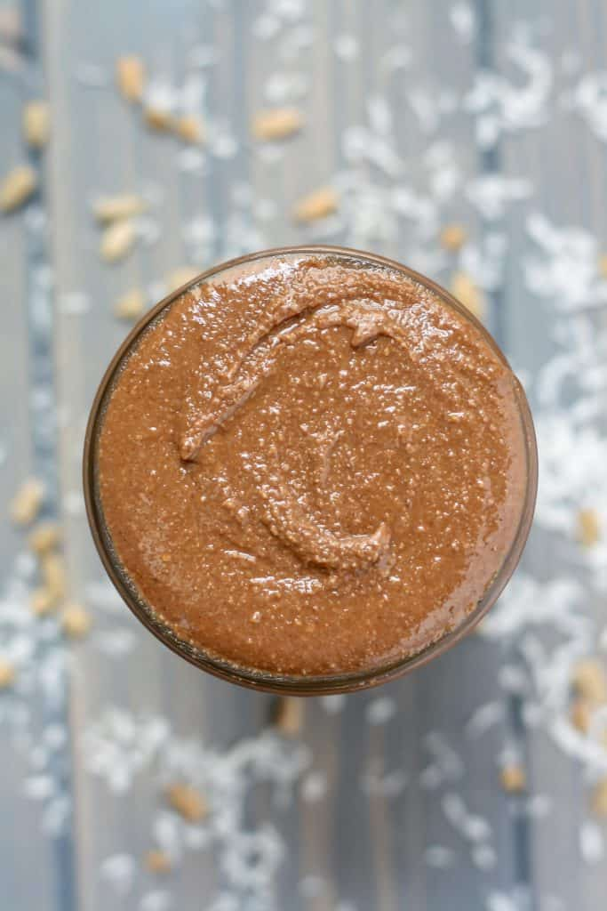 Chocolate Coconut Sunflower Seed Butter close up