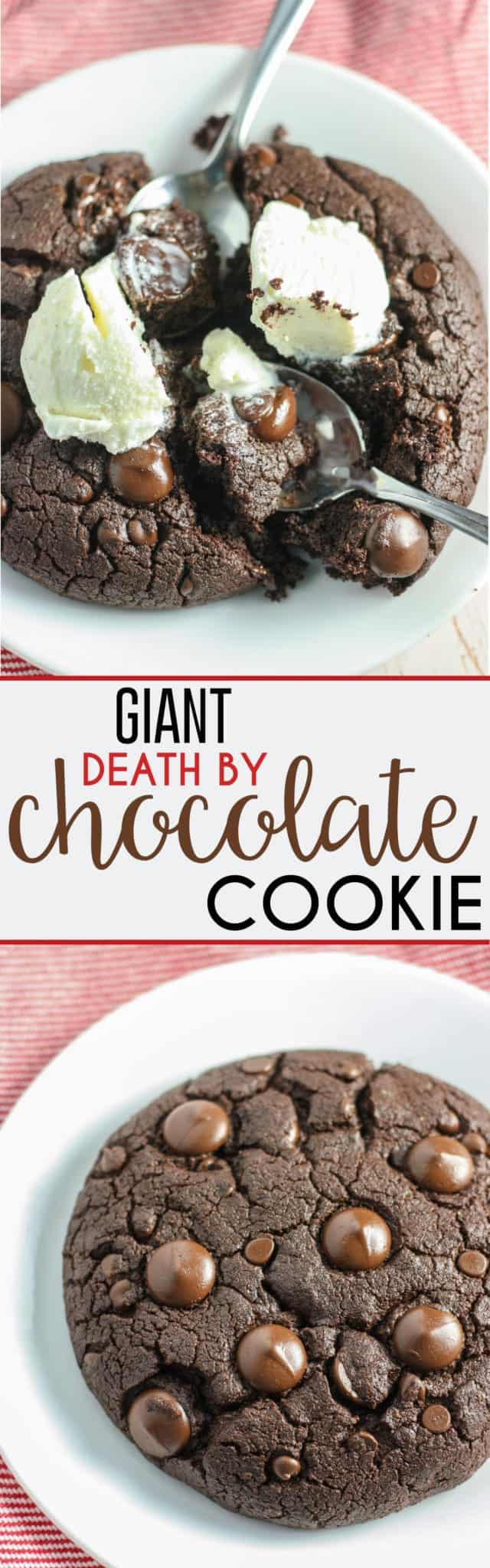 Giant Death by Chocolate Cookie [dairy-free] • Fit Mitten Kitchen