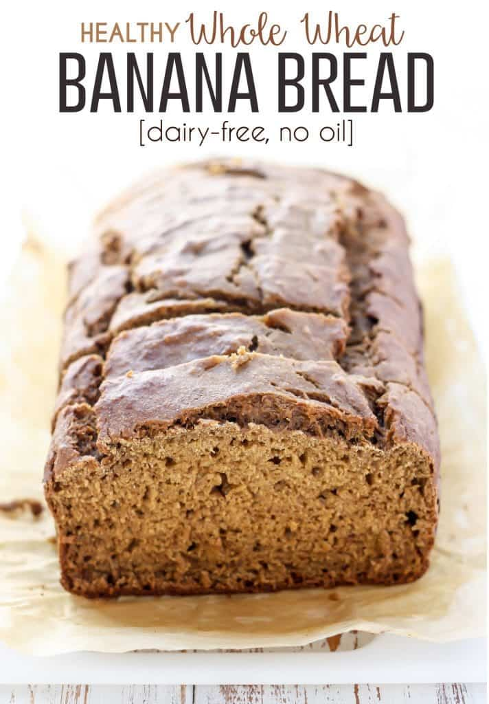Healthy whole wheat banana bread low fat dairy free fit a classic recipe made with wholesome ingredients this healthy whole wheat banana bread is dairy forumfinder Image collections
